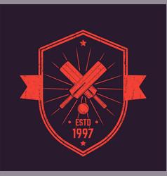 Cricket vintage logo emblem vector