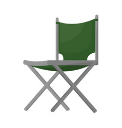 Design chair and folding sign vector