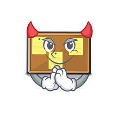 Devil bulletin board isolated in mascot vector