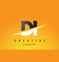 Di d i letter modern logo design with yellow vector