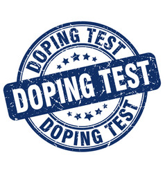 Doping test blue grunge stamp vector