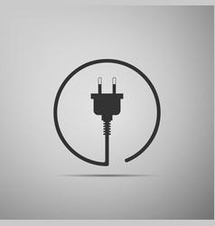 electric plug icon isolated on grey background vector image