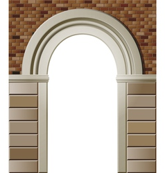Entrance with arch colored template vector