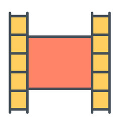 film strip line icon video symbol vector image