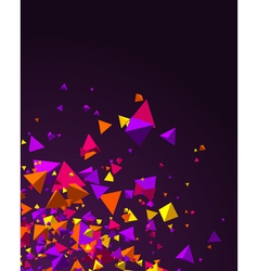 fly colorful 3d pyramids background vector image