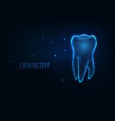 Futuristic dentistry teeth care concept vector