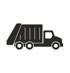 Garbage truck icon vector