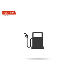 Gas pump icon flat logo vector