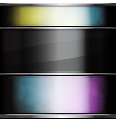 glass background vector image