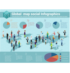 global world isometric map vector image