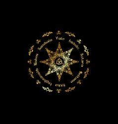 Gold book shadows wheel year pagan wicca vector