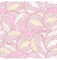 Green and pink doodle vector