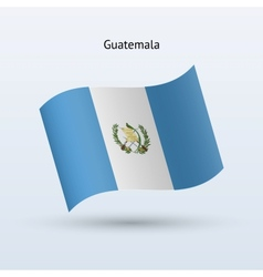 Guatemala flag waving form vector