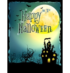 Halloween Background with haunted house EPS 10 vector