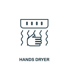 Hands dryer icon line style element from hygiene vector