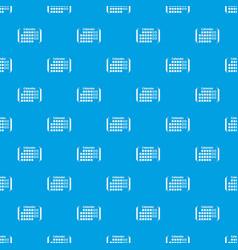 information calendar pattern seamless blue vector image