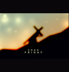 Jesus christ carrying cross good friday background vector