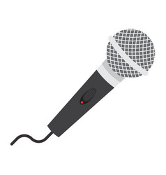 microphone flat icon music and instrument vector image