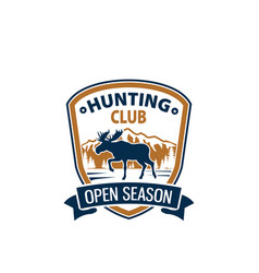 open season animal icon for hunting club vector image