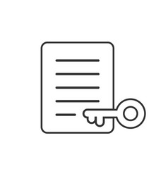 Password account icon in flat style keyword on vector