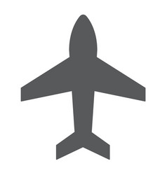 plane glyph icon aircraft and jet airplane sign vector image