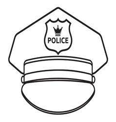 Police cap2 vector image