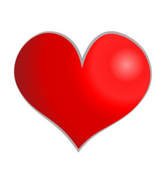 Red heart isolated on white background icon vector