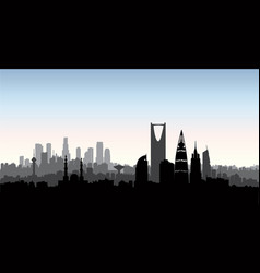 Riyadh city skyline cityscape silhouette with vector
