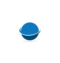 round orbit science logo vector image