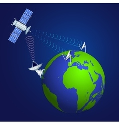 Satellite broadcasting concept vector