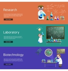 Science Research Banners vector image