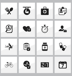 set of 16 editable mixed icons includes symbols vector image