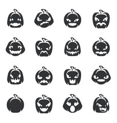 silhouette simple halloween pumpkin decoration vector image