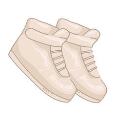 Sneakers from 2000s vintage trends and fashion vector