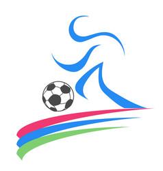 soccer sport logo vector image