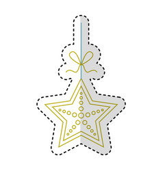 star fish isolated icon vector image