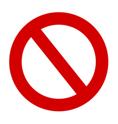 stop sign no entry warning red circle icon vector image