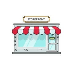 Store isolated storefront vector