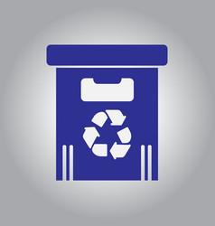 Street trash urn garbage bin vector
