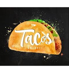 Tacos chalk vector