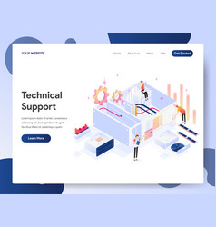 Technical support isometric concept vector