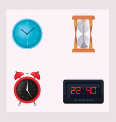 time and clocks design vector image