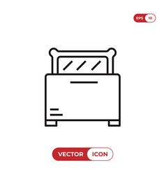toaster icon vector image