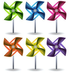 Toy windmills vector