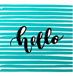trendy hand lettering poster hand drawn vector image