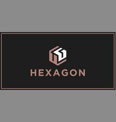 Ug hexagon logo design inspiration vector