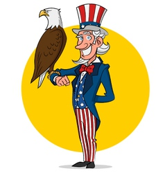 Uncle Sam and eagle vector