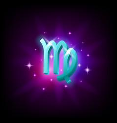 Virgo constellation icon in space style on dark vector