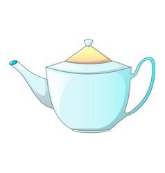 white tea pot icon cartoon style vector image