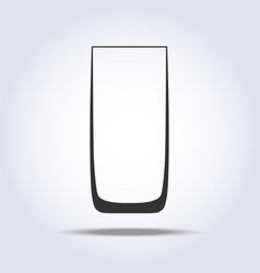 wineglass goblet object in gray colors vector image